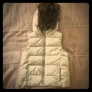 Gap. Winter/fall vest. With hood. Size L. Girls
